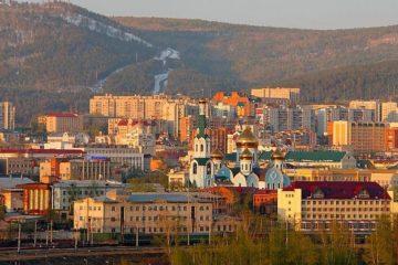 Norilskaya street in unique city