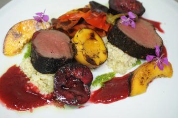 Venison and fruit