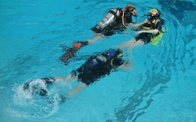 Where do Norilsk divers dive?
