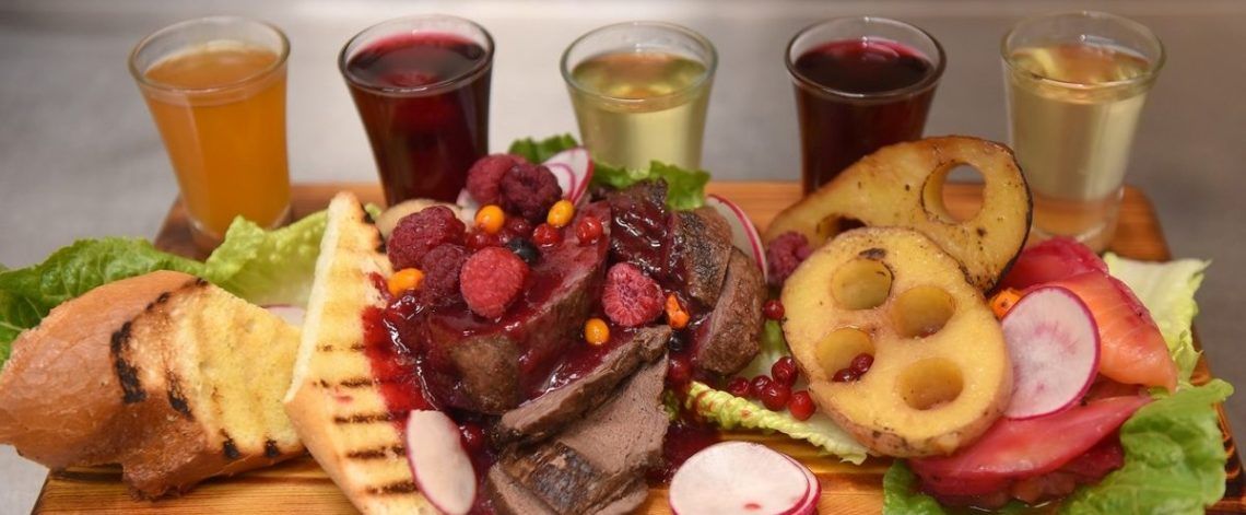 Venison with taiga potatoes for Sunday lunch
