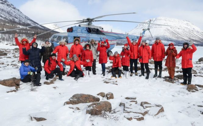 They saw mammoth, visited icebreaker and caught smelts
