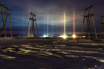 Norilsk resident shared beautiful natural phenomenon pictures