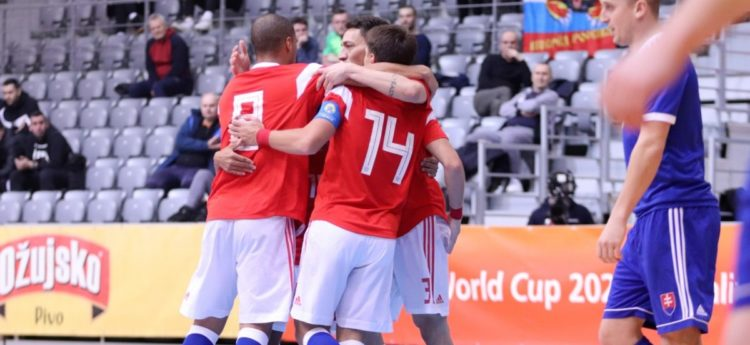 Norilsk Nickel FC players prepare for Euro 2022