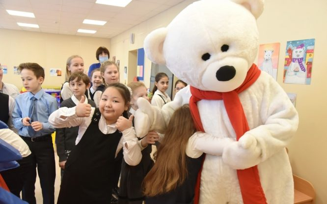 Polar bear walked in Norilsk