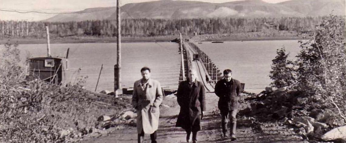 First bridge on Norilskaya river was floating