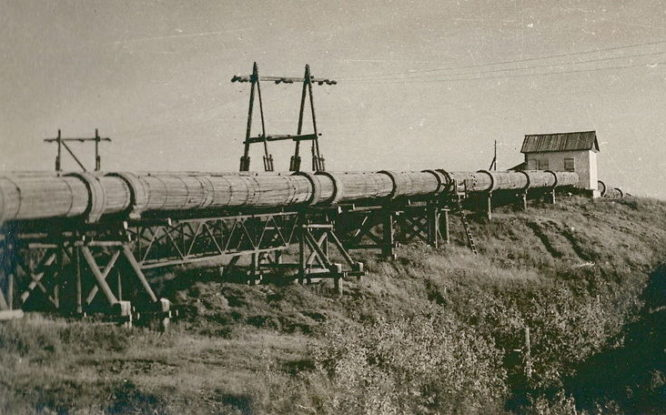 First Norilsk water supply system was wooden