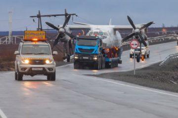 Plane delivered to Dudinka by land