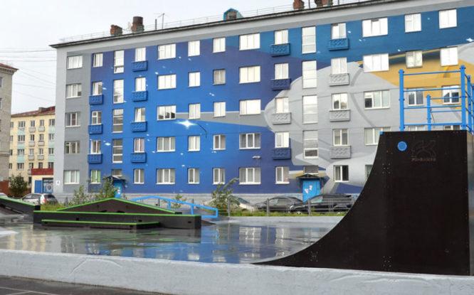Renovated skate park opens in Norilsk