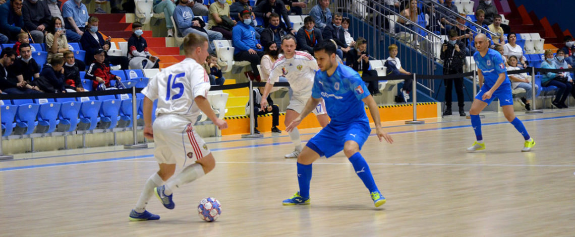 Norilsk futsal players celebrate their victory