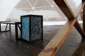 Recycled plastic benches and waste bins appeared in Norilsk