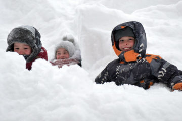 80 million cubic meters of snow fall in Norilsk during winter